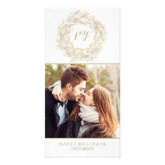 WINTER WREATH   JOY   STYLISH HOLIDAY CARD PHOTO CARDS