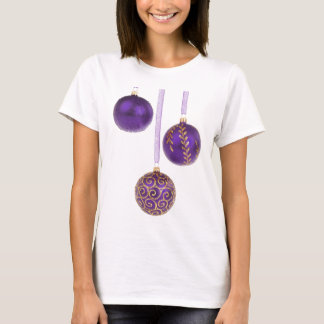 Winterberry Amethyst Purple Lavender Christmas T-Shirt