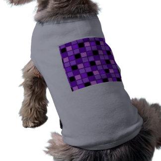 Winterberry Lavender Purple Harlequin Designer Sleeveless Dog Shirt