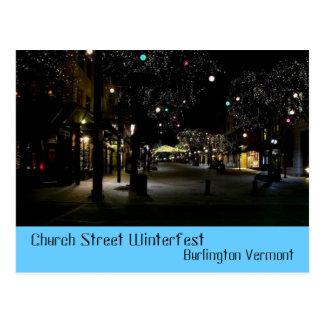 Winterfest Church Street Burlington Vermont Postcard