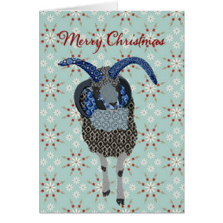 Winterland Jacobs Sheep  Christmas Greeting Greeting Card