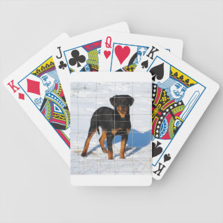 Winterland Rottweiler Bicycle Playing Cards