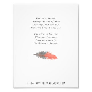 Winter's Breath - 8.5 x 11 Poetry Printable Photographic Print