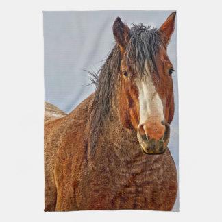 Winter's Edge Horse Kitchen Towel