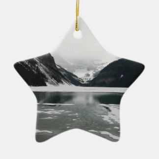 Winter's End, Lake Louise Ceramic Ornament