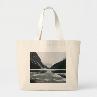 Winter's End, Lake Louise Large Tote Bag