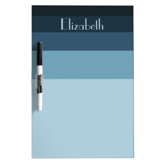 Winter's Evening Palette Stripes Personalized Dry Erase Board