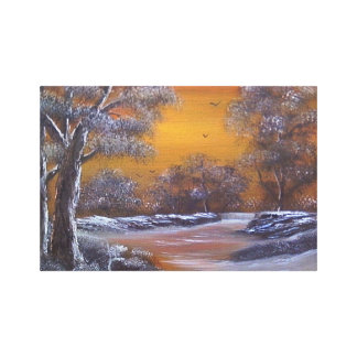 Winters Glow Gallery Wrapped Canvas