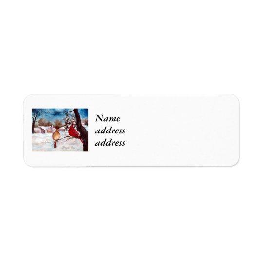 Winters Serenity Avery Return Address Label
