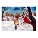 Winters Serenity Cardinal Art Card