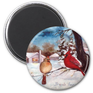 Winters Serenity Cardinal Magnet