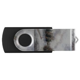 Winter's Sunset Swivel USB 2.0 Flash Drive