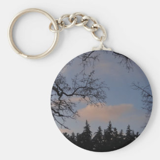 WinterSky Basic Round Button Key Ring