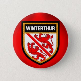 Winterthur  Flag 6 Cm Round Badge