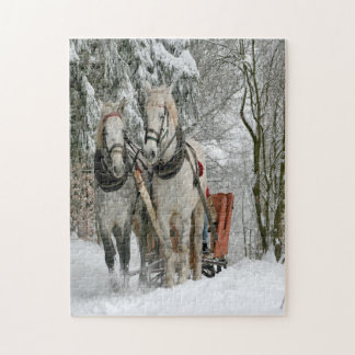 Wintertime Sleigh Ride Jigsaw Puzzle
