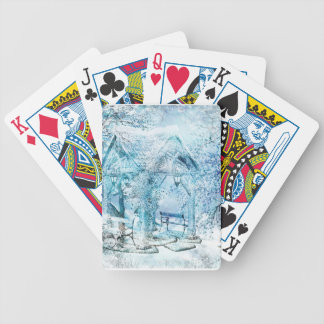 WINTERY BICYCLE PLAYING CARDS