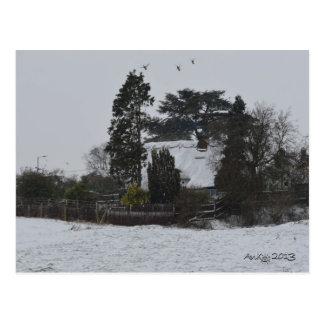 Wintery Countryside Postcard