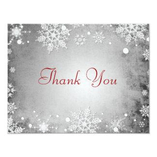 "Wintery Grey Thank You Card 4.25"" X 5.5"" Invitation Card"