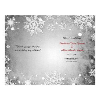 Wintery Grey Wedding Program Flyers