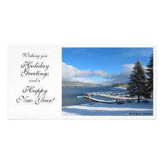 Wintery Idaho Scene Personalised Photo Card