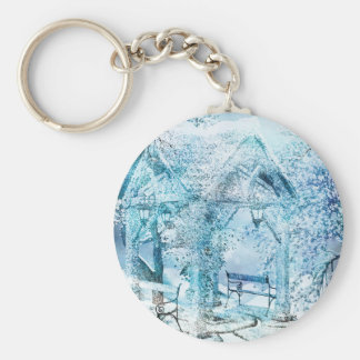 WINTERY KEY RING
