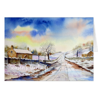 Wintery Lane New Home We Have Moved Card