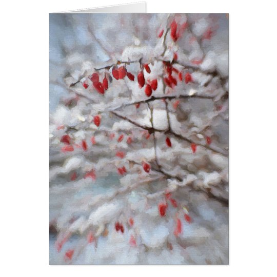 Wintery Red Berries Card