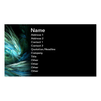 Wipe Out Abstract Digital Art Business Card