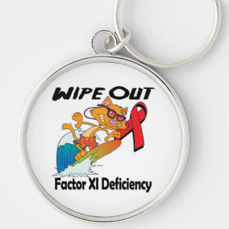 Wipe Out Factor XI Deficiency Keychain