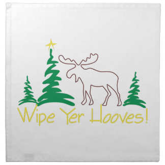 Wipe Yer Hooves! Cloth Napkins