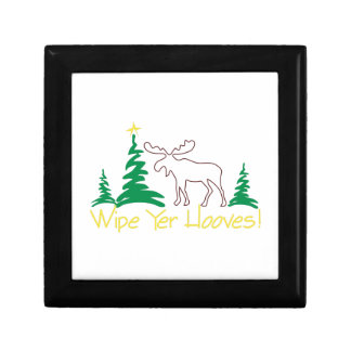 Wipe Yer Hooves! Small Square Gift Box