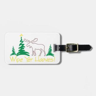Wipe Yer Hooves! Travel Bag Tags