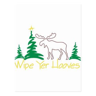 Wipe Yer Hooves! Postcard