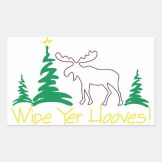 Wipe Yer Hooves! Rectangular Sticker