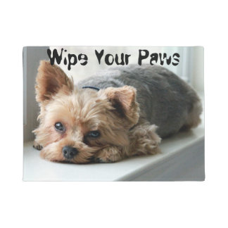 Wipe Your Paws Yorkie Doormat