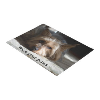 Wipe your paws yorkie / silky door mat