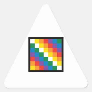 WIPHALA BOLIVIA FLAG TRIANGLE STICKER