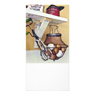Wire Basket Of Eggs And Egg Beater Card
