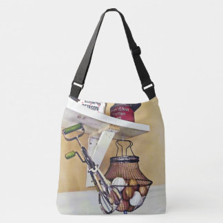 Wire Basket Of Eggs And Egg Beater Crossbody Bag