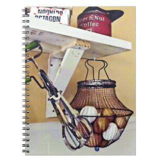 Wire Basket Of Eggs And Egg Beater Notebook
