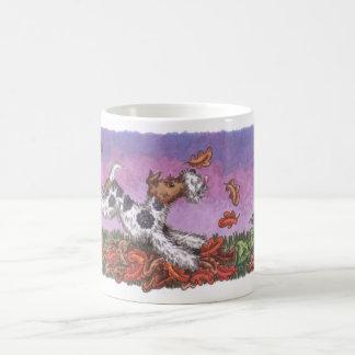 Wire Fox Autumn 11oz white mug