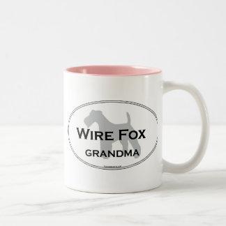 Wire Fox Grandma Two-Tone Coffee Mug