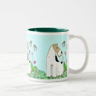 Wire Fox Terrier and Butterflies Mug