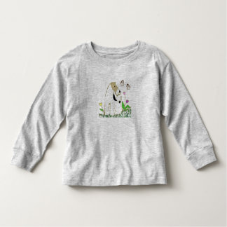 Wire Fox Terrier and Butterflies Toddler T-Shirt