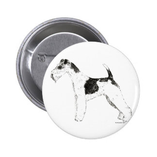 Wire Fox Terrier Buttons