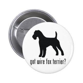 Wire Fox Terrier Pinback Button