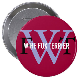 Wire Fox Terrier Breed Monogram Button