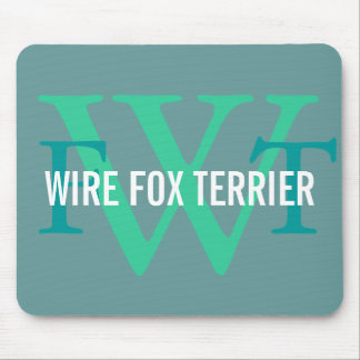 Wire Fox Terrier Breed Monogram Mouse Pad