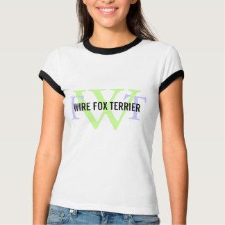 Wire Fox Terrier Breed Monogram Tshirts