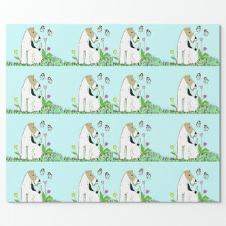 Wire Fox Terrier & Butterfly Wrapping Paper
